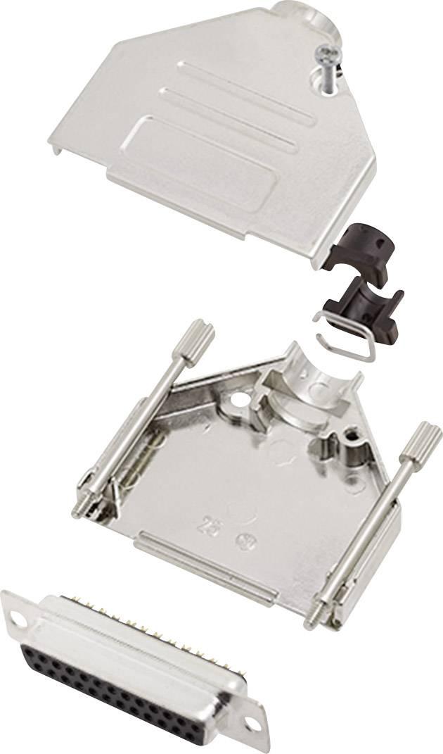Sada D-SUB zásuvková lišta encitech DTCK25-DBS-K, 180 °, pólů 25, pájecí kalíšek, 1 sada