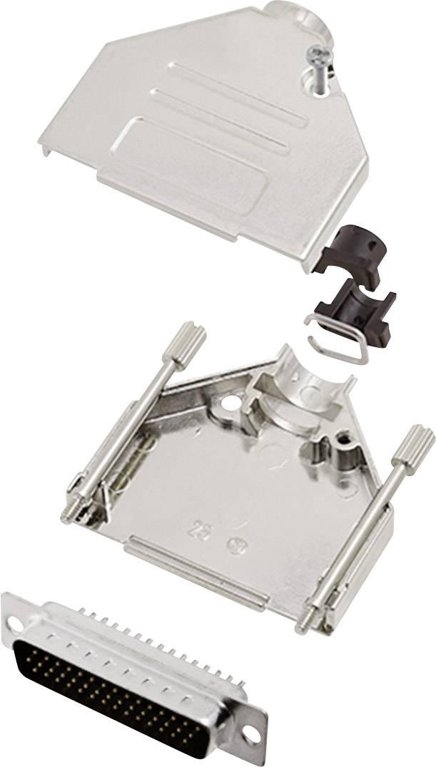 Sada D-SUB kolíkové lišty encitech DTCK25-HDP44-K, 180 °, pólů 44, pájecí kalíšek, 1 sada