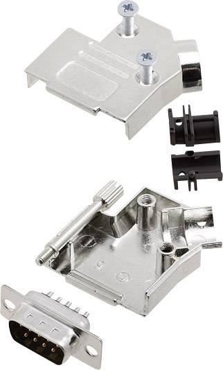 Sada D-SUB kolíkové lišty encitech D45ZK09-DBP-K, 45 °, pólů 9, pájecí kalíšek, 1 sada