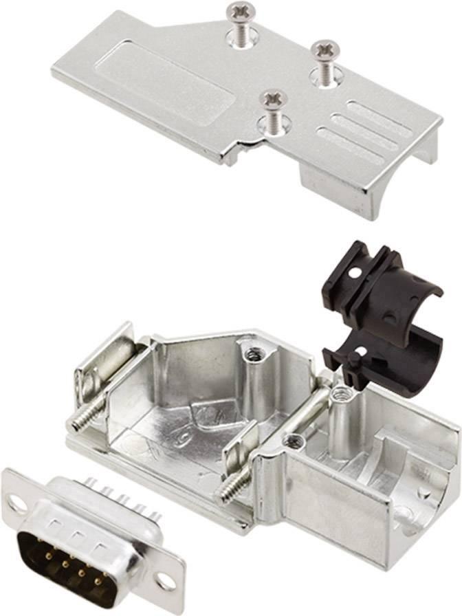 Sada D-SUB kolíkové lišty encitech DCMR-FK-09-DBP-K, 90 °, pólů 9, pájecí kalíšek, 1 sada