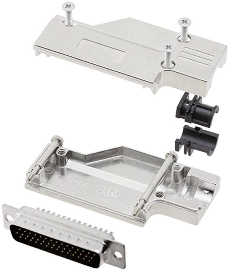 Sada D-SUB kolíkové lišty encitech DCMR-FK-25-HDP44-K, 90 °, pólů 44, pájecí kalíšek, 1 sada