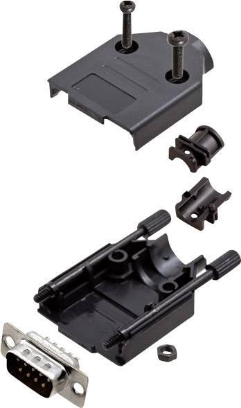 Sada D-SUB kolíkové lišty encitech DTPK-P-09-DBP-K, 180 °, pólů 9, pájecí kalíšek, 1 sada