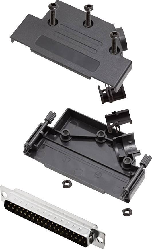 Sada D-SUB kolíkové lišty encitech D45PK-P-37-DBP-K, 45 °, pólů 37, pájecí kalíšek, 1 sada