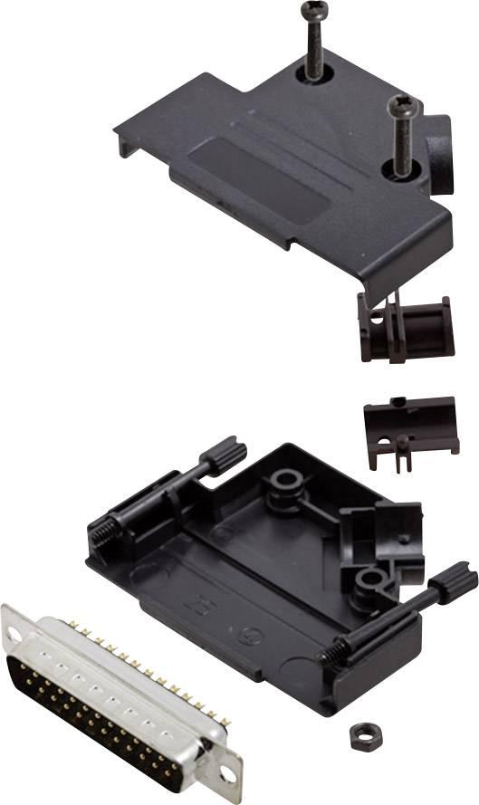 Sada D-SUB kolíkové lišty encitech D45PK-P-25-DMP-K, 45 °, pólů 25, pájecí kalíšek, 1 sada