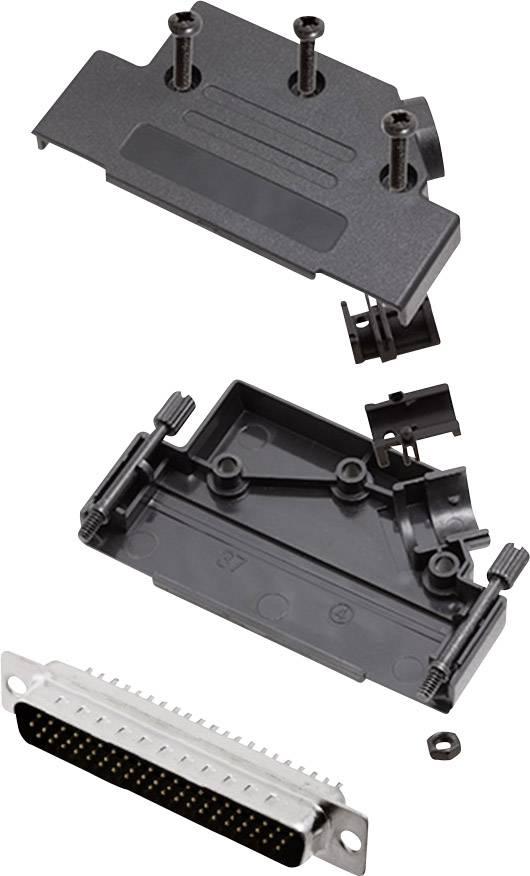 Sada D-SUB kolíkové lišty encitech D45PK-P-37-HDP62-K, 45 °, pólů 62, pájecí kalíšek, 1 sada
