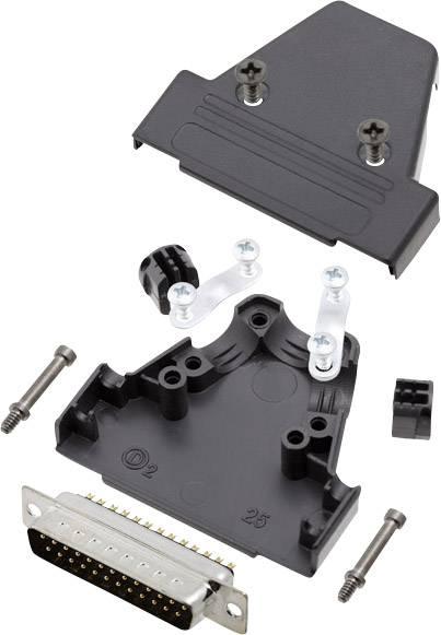 Sada D-SUB kolíkové lišty encitech TRI-P-25-DBP-K, 180 °, pólů 25, pájecí kalíšek, 1 sada