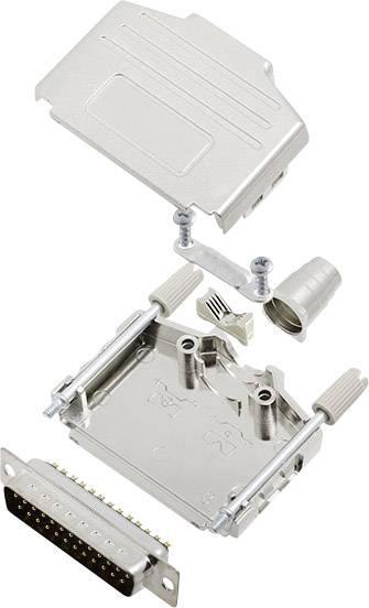 Sada D-SUB kolíkové lišty encitech DPPK25-M-DBP-K, 180 °, pólů 25, pájecí kalíšek, 1 sada