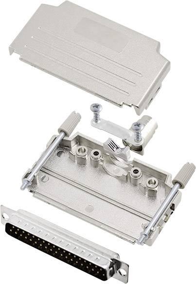 Sada D-SUB kolíkové lišty encitech DPPK37-M-DBP-K, 180 °, pólů 37, pájecí kalíšek, 1 sada