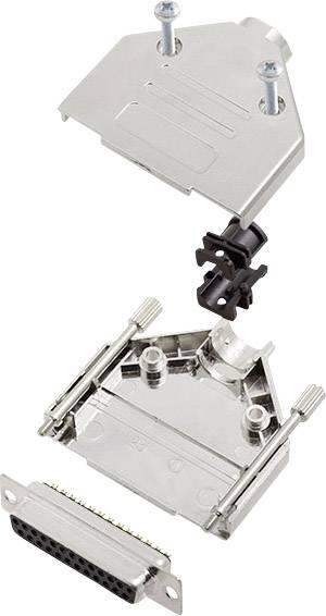 Sada D-SUB zásuvková lišta encitech DTPK-M-25-DMS-K, 180 °, pólů 25, pájecí kalíšek, 1 sada