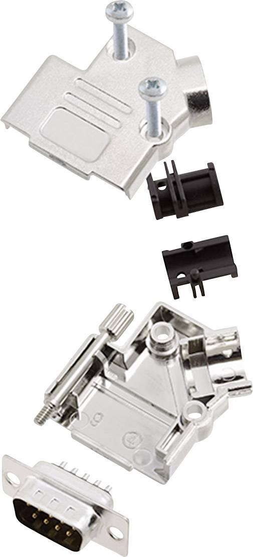 Sada D-SUB kolíkové lišty encitech D45PK-M-09-DBP-K, 45 °, pólů 9, pájecí kalíšek, 1 sada