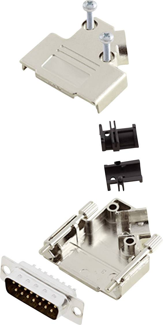 Sada D-SUB kolíkové lišty encitech D45PK-M-15-DBP-K, 45 °, pólů 15, pájecí kalíšek, 1 sada