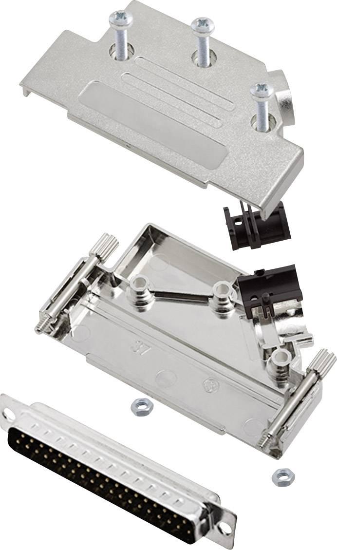 Sada D-SUB kolíkové lišty encitech D45PK-M-37-DBP-K, 45 °, pólů 37, pájecí kalíšek, 1 sada