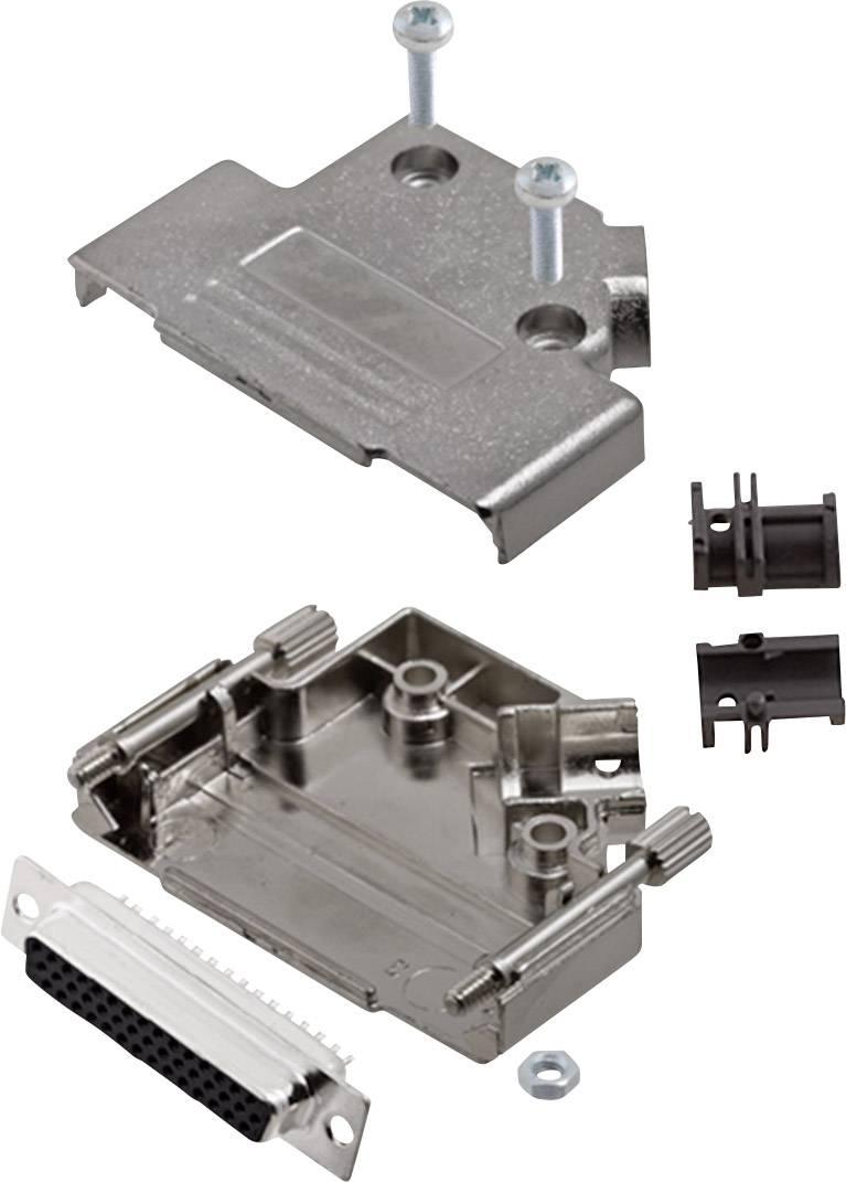 Sada D-SUB zásuvková lišta encitech D45PK-M-25-HDS44-K, 45 °, pólů 44, pájecí kalíšek, 1 sada