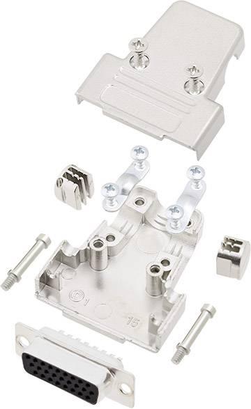 Sada D-SUB zásuvková lišta encitech TRI-M-25-HDS44-K, 180 °, pólů 44, pájecí kalíšek, 1 sada