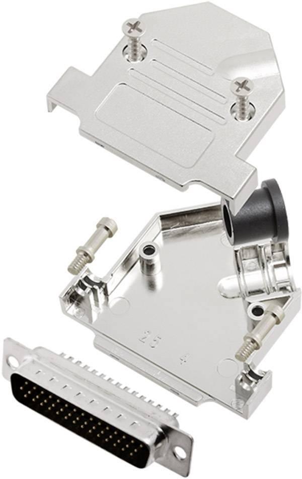 Sada D-SUB kolíkové lišty encitech D45NT09-M-HDP44-K, 45 °, pólů 44, pájecí kalíšek, 1 sada
