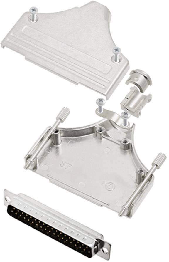 Sada D-SUB kolíkové lišty encitech MHDM-37-DBP-K, 180 °, pólů 37, pájecí kalíšek, 1 sada