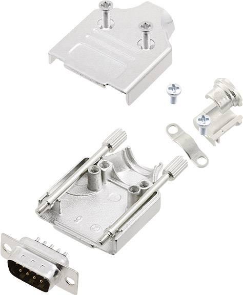 Sada D-SUB kolíkové lišty encitech MHDM-09-DMP-K, 180 °, pólů 9, pájecí kalíšek, 1 sada