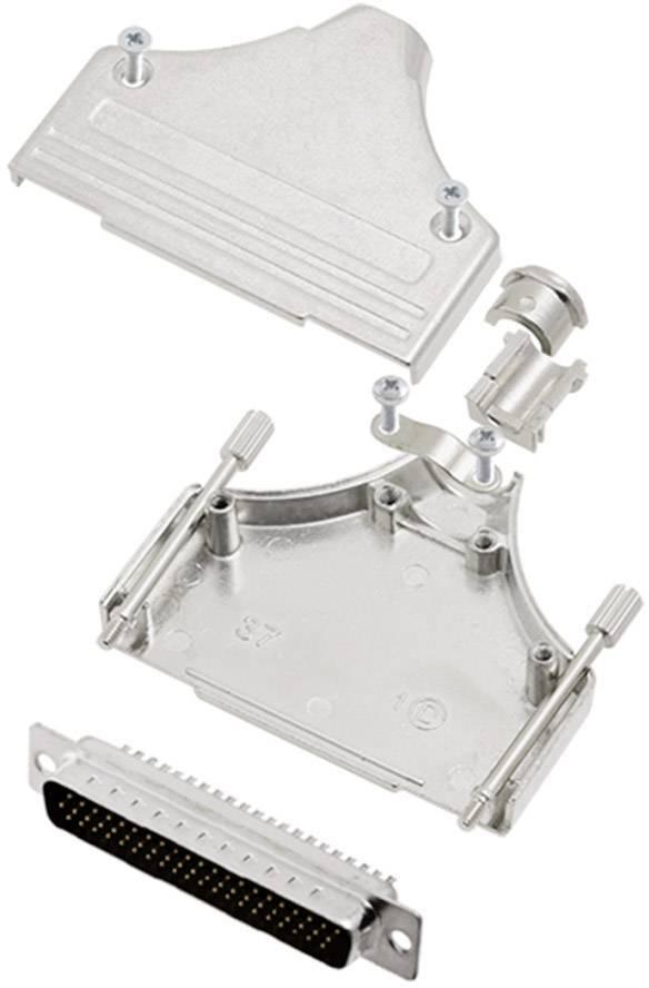 Sada D-SUB kolíkové lišty encitech MHDM-37-HDP62-K, 180 °, pólů 62, pájecí kalíšek, 1 sada