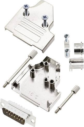Sada D-SUB kolíkové lišty encitech MHDM35-15-DBP-K, 180 °, pólů 15, pájecí kalíšek, 1 sada
