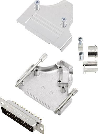 Sada D-SUB kolíkové lišty encitech MHDM35-25-DBP-K, 180 °, pólů 25, pájecí kalíšek, 1 sada