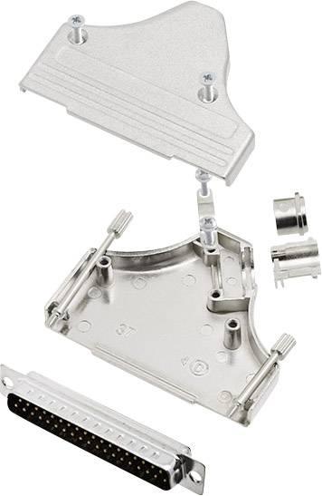 Sada D-SUB kolíkové lišty encitech MHDM35-37-DBP-K, 180 °, pólů 37, pájecí kalíšek, 1 sada