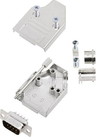 Sada D-SUB kolíkové lišty encitech MHDM35-09-DMP-K, 45 °, pólů 9, pájecí kalíšek, 1 sada