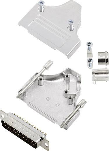 Sada D-SUB kolíkové lišty encitech MHDM35-25-DMP-K, 45 °, pólů 25, pájecí kalíšek, 1 sada