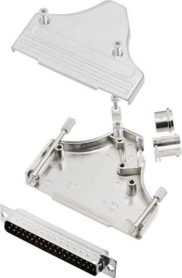 Sada D-SUB kolíkové lišty encitech MHDM35-37-DMP-K, 45 °, pólů 37, pájecí kalíšek, 1 sada