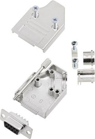 Sada D-SUB zásuvková lišta encitech MHDM35-09-DBS-K, 180 °, pólů 9, pájecí kalíšek, 1 sada