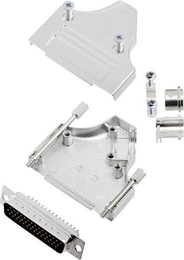 Sada D-SUB kolíkové lišty encitech MHDM35-25-HDP44-K, 45 °, pólů 44, pájecí kalíšek, 1 sada