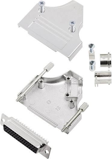 Sada D-SUB zásuvková lišta encitech MHDM35-25-HDS44-K, 180 °, pólů 44, pájecí kalíšek, 1 sada
