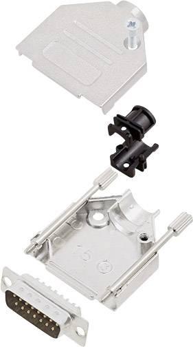 Sada D-SUB kolíkové lišty encitech DTZK15-DBP-K, 180 °, pólů 15, pájecí kalíšek, 1 sada