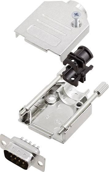 Sada D-SUB kolíkové lišty encitech DTZK09-DMP-K, 180 °, pólů 9, pájecí kalíšek, 1 sada