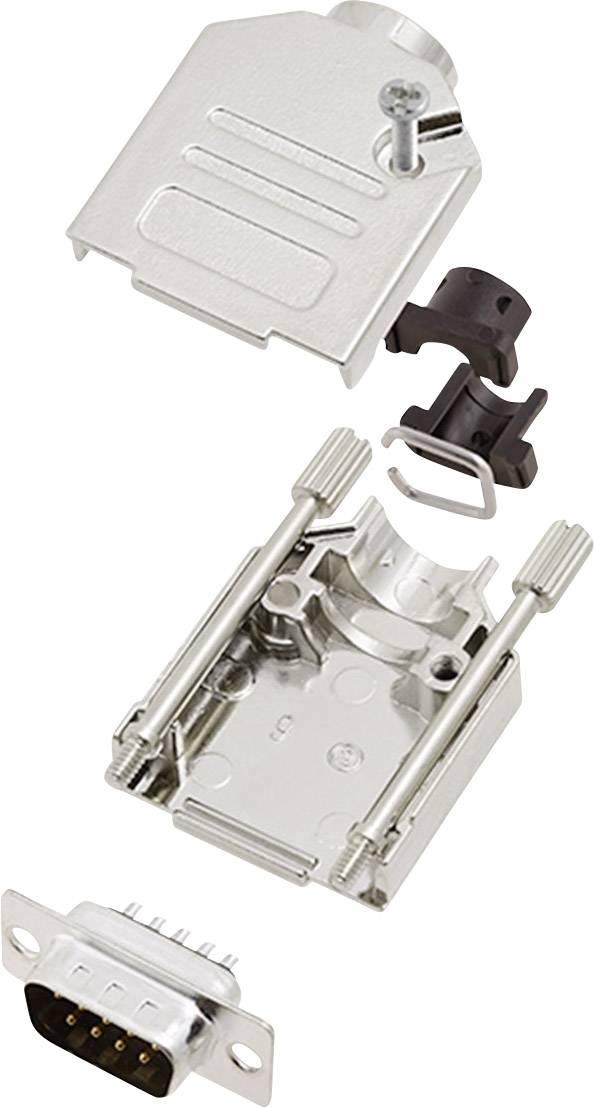 Sada D-SUB kolíkové lišty encitech DTCK09-DBP-K, 180 °, pólů 9, pájecí kalíšek, 1 sada