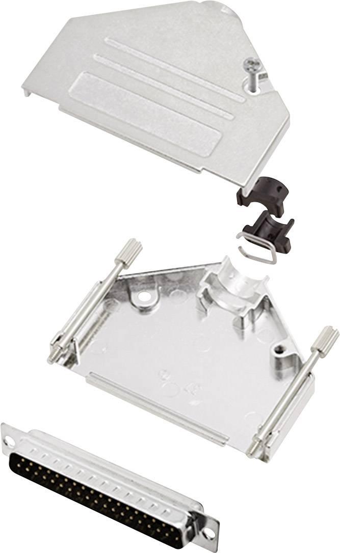Sada D-SUB kolíkové lišty encitech DTCK37-DMP-K, 180 °, pólů 37, pájecí kalíšek, 1 sada