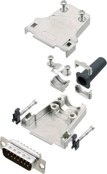 Sada D-SUB kolíkové lišty encitech DTZF15-DMP-K, 180 °, pólů 15, pájecí kalíšek, 1 sada