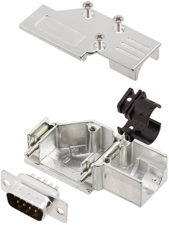 Sada D-SUB kolíkové lišty encitech DCMR-FK-09-DMP-K, 90 °, pólů 9, pájecí kalíšek, 1 sada