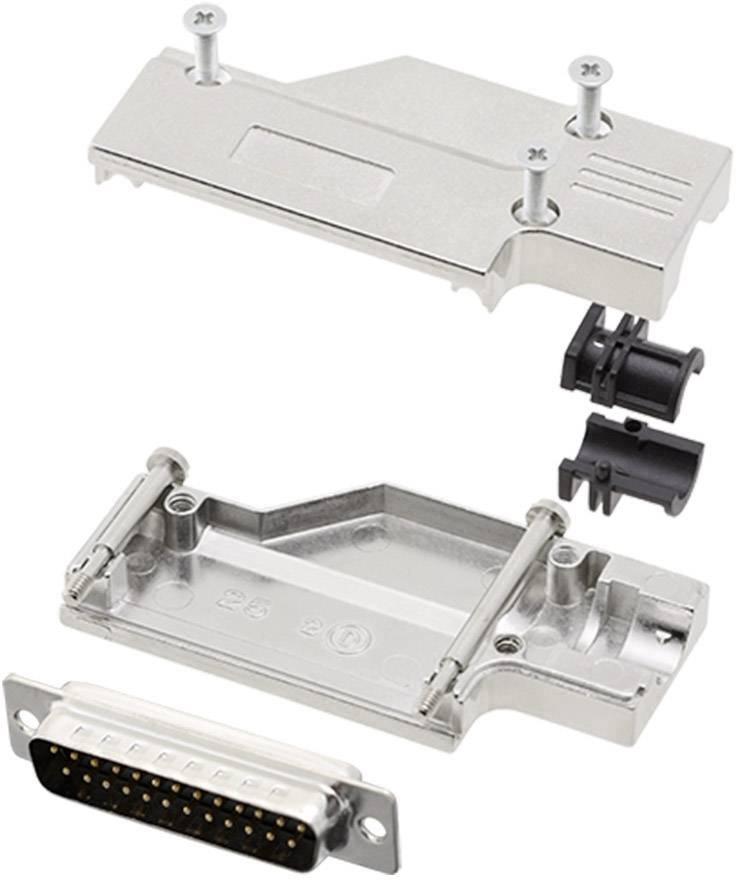 Sada D-SUB kolíkové lišty encitech DCMR-FK-25-DMP-K, 90 °, pólů 25, pájecí kalíšek, 1 sada