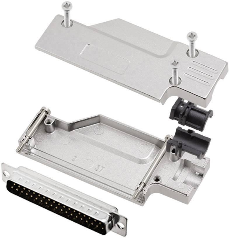 Sada D-SUB kolíkové lišty encitech DCMR-FK-37-DMP-K, 90 °, pólů 37, pájecí kalíšek, 1 sada