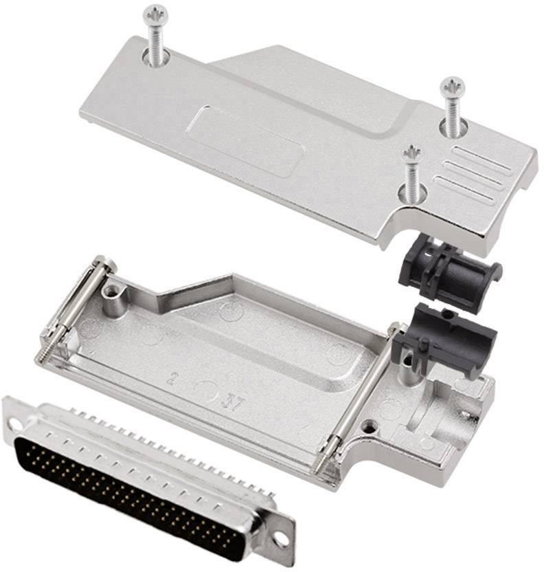 Sada D-SUB kolíkové lišty encitech DCMR-FK-37-HDP62-K, 90 °, pólů 62, pájecí kalíšek, 1 sada