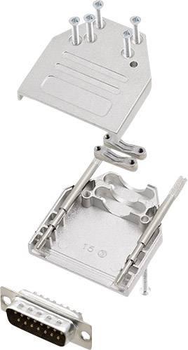 Sada D-SUB kolíkové lišty encitech DTZI15-DBP-K, 180 °, pólů 15, pájecí kalíšek, 1 sada