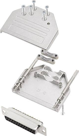 Sada D-SUB zásuvková lišta encitech DTZI25-DMS-K, 180 °, pólů 25, pájecí kalíšek, 1 sada