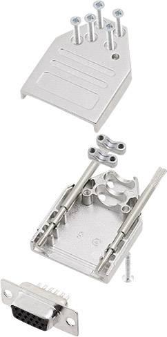 Sada D-SUB kolíkové lišty encitech DTZI09-HDS15-K, 180 °, pólů 9, pájecí kalíšek, 1 sada