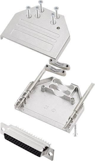 Sada D-SUB kolíkové lišty encitech DTZI25-HDS44-K, 180 °, pólů 25, pájecí kalíšek, 1 sada