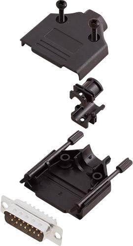 Sada D-SUB kolíkové lišty encitech DTPK-P-15-DMP-K, 180 °, pólů 15, pájecí kalíšek, 1 sada