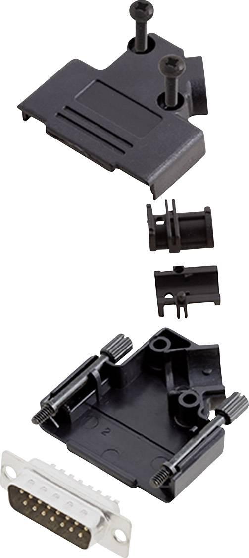 Sada D-SUB kolíkové lišty encitech D45PK-P-15-DBP-K, 45 °, pólů 15, pájecí kalíšek, 1 sada