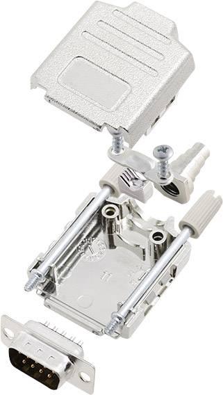 Sada D-SUB kolíkové lišty encitech DPPK09-M-DBP-K, 180 °, pólů 9, pájecí kalíšek, 1 sada
