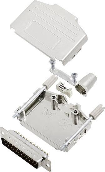 Sada D-SUB kolíkové lišty encitech DPPK25-M-DMP-K, 180 °, pólů 25, pájecí kalíšek, 1 sada