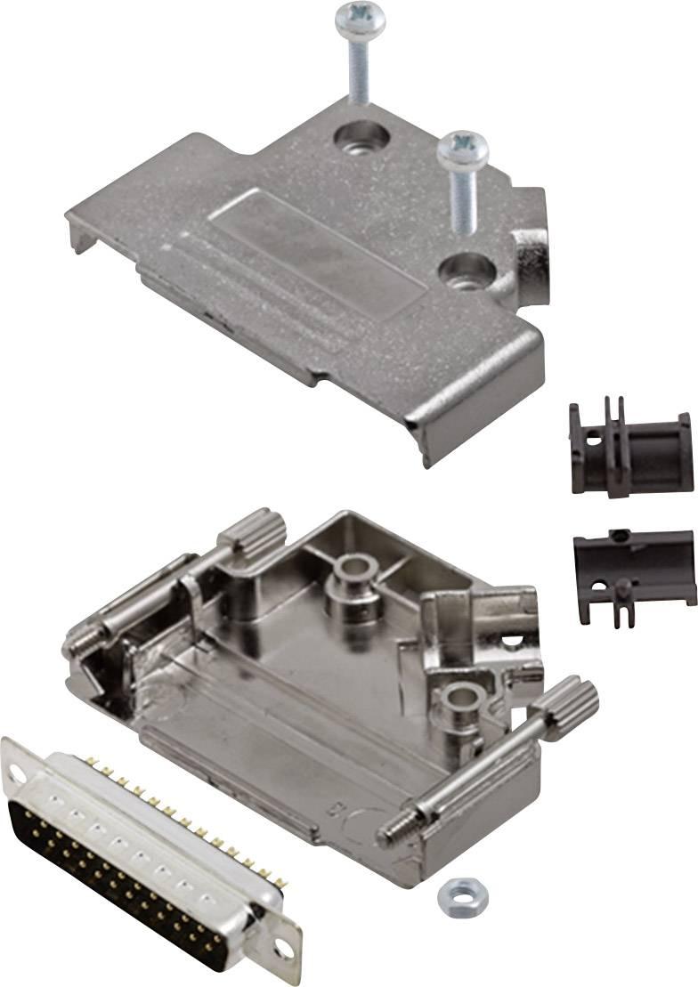Sada D-SUB kolíkové lišty encitech D45PK-M-25-DBP-K, 45 °, pólů 25, pájecí kalíšek, 1 sada