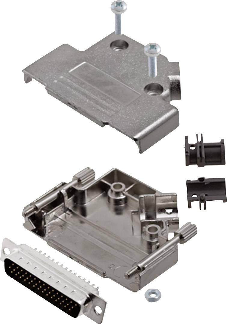 Sada D-SUB kolíkové lišty encitech D45PK-M-25-HDP44-K, 45 °, pólů 44, pájecí kalíšek, 1 sada